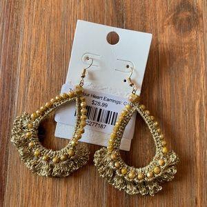 Shophopes beaded tassel chandelier earrings